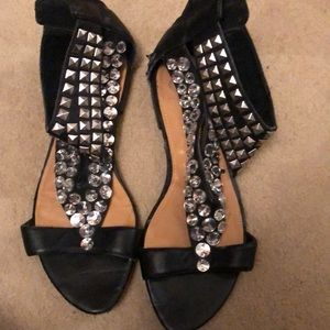 Studded flat sandals 8.5